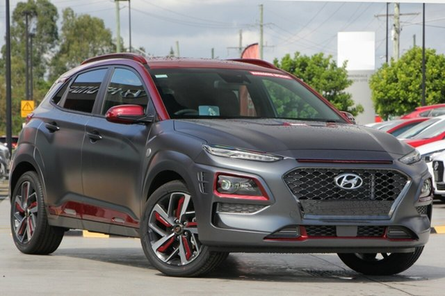 New Hyundai Kona OS.2 MY19 Iron Man Edition D-CT AWD, 2019 Hyundai Kona OS.2 MY19 Iron Man Edition D-CT AWD Tone 7 Speed Sports Automatic Dual Clutch