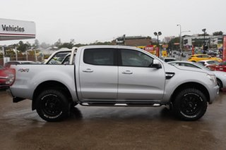 2013 Ford Ranger PX XLT Double Cab Silver 6 Speed Sports Automatic Utility.