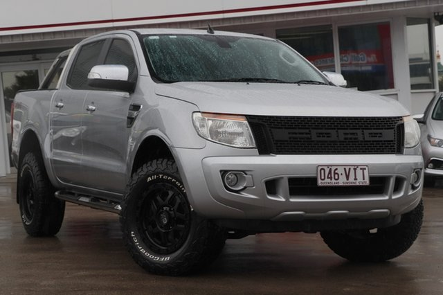 Used Ford Ranger PX XLT Double Cab, 2013 Ford Ranger PX XLT Double Cab Silver 6 Speed Sports Automatic Utility