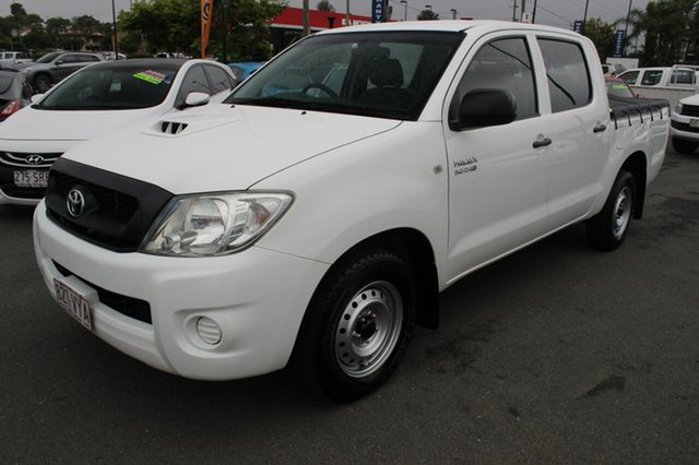 Used Toyota Hilux KUN16R MY10 SR 4x2, 2010 Toyota Hilux KUN16R MY10 SR 4x2 White 5 Speed Manual Utility