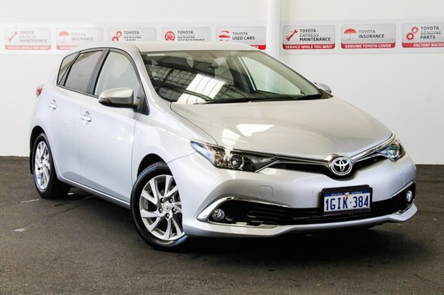 Used Toyota Corolla ZRE182R Ascent S-CVT, 2017 Toyota Corolla ZRE182R Ascent S-CVT Silver Pearl 7 Speed Constant Variable Hatchback