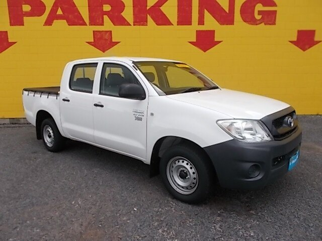 Used Toyota Hilux TGN16R MY10 Workmate 4x2, 2010 Toyota Hilux TGN16R MY10 Workmate 4x2 White 5 Speed Manual Utility