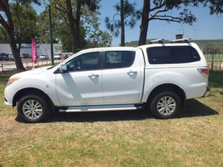 2013 Mazda BT-50 UP0YF1 GT White 6 Speed Manual Utility