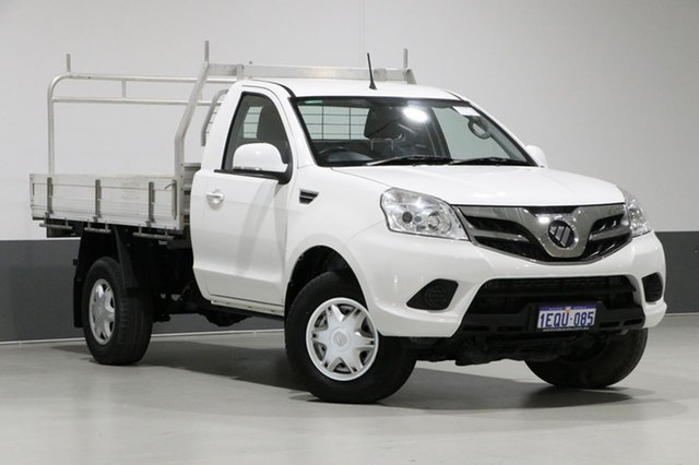 Used Foton Tunland P201 MY15 (4x4), 2015 Foton Tunland P201 MY15 (4x4) White 5 Speed Manual Cab Chassis Tray