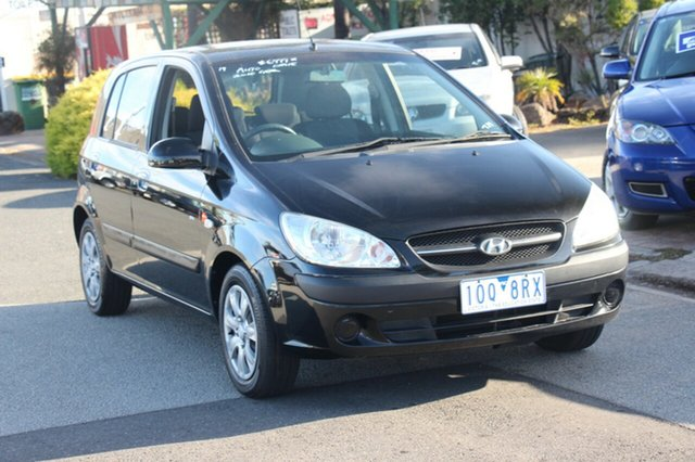 Used Hyundai Getz TB MY09 SX, 2010 Hyundai Getz TB MY09 SX Black 4 Speed Automatic Hatchback