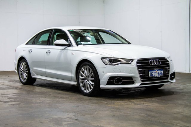 Used Audi A6 4G MY15 S Line S Tronic, 2015 Audi A6 4G MY15 S Line S Tronic White 7 Speed Sports Automatic Dual Clutch Sedan