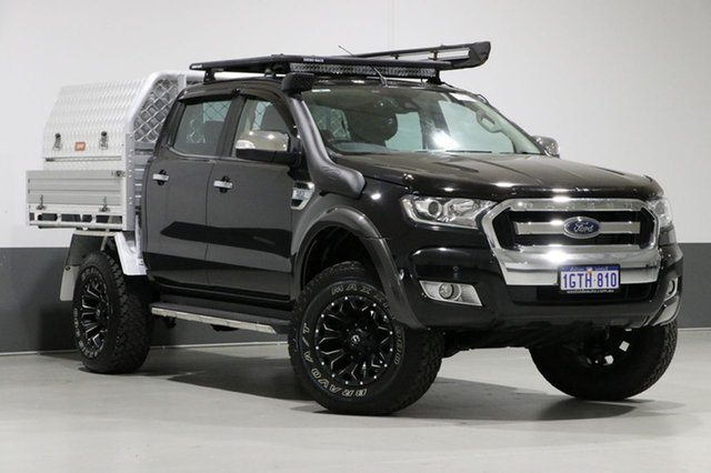 Used Ford Ranger PX MkII XLT 3.2 (4x4), 2015 Ford Ranger PX MkII XLT 3.2 (4x4) Black 6 Speed Automatic Dual Cab Utility