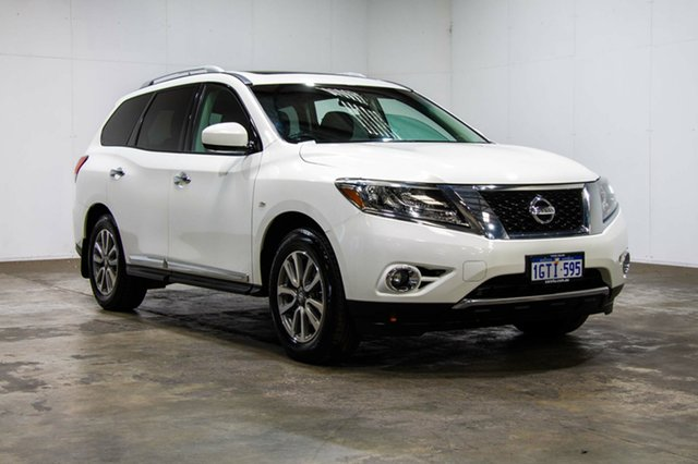 Used Nissan Pathfinder R52 MY14 ST-L X-tronic 4WD, 2013 Nissan Pathfinder R52 MY14 ST-L X-tronic 4WD White 1 Speed Constant Variable Wagon