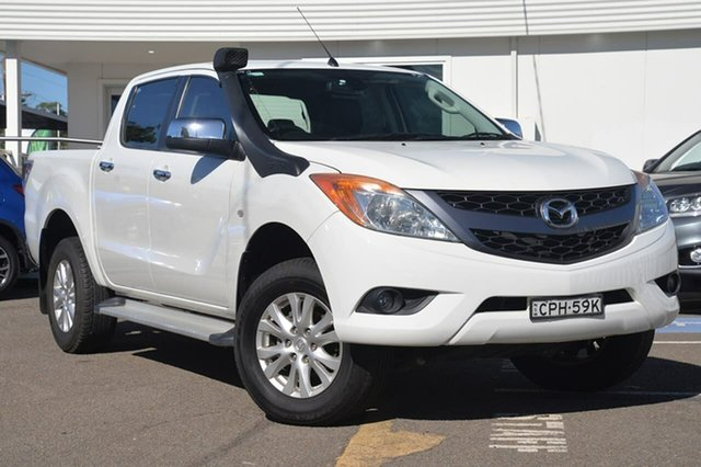 Used Mazda BT-50 UP0YF1 GT, 2013 Mazda BT-50 UP0YF1 GT White 6 Speed Manual Utility