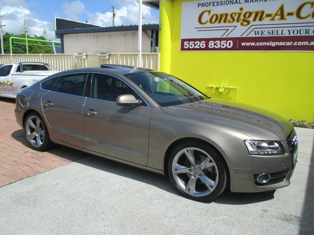 Used Audi A5 8T MY11 Sportback S Tronic Quattro, 2010 Audi A5 8T MY11 Sportback S Tronic Quattro Gold 7 Speed Sports Automatic Dual Clutch Hatchback