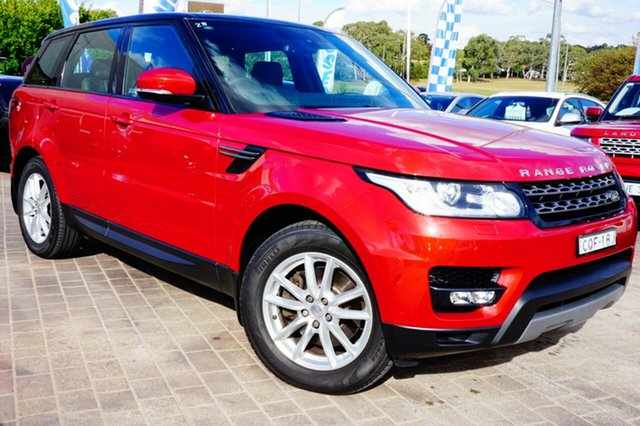 Used Land Rover Range Rover Sport L494 MY14 TdV6 CommandShift SE, 2013 Land Rover Range Rover Sport L494 MY14 TdV6 CommandShift SE Red 8 Speed Sports Automatic Wagon