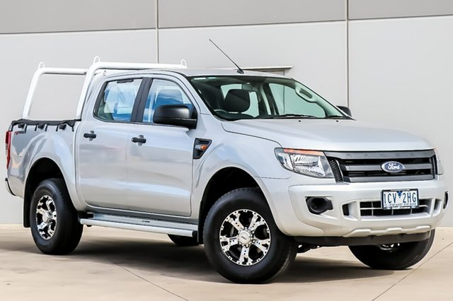 Used Ford Ranger PX XL Double Cab 4x2 Hi-Rider, 2014 Ford Ranger PX XL Double Cab 4x2 Hi-Rider Silver 6 Speed Manual Utility
