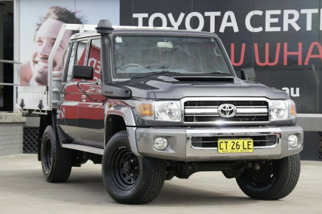 Used Toyota Landcruiser VDJ79R GXL Double Cab, 2017 Toyota Landcruiser VDJ79R GXL Double Cab Grey 5 Speed Manual Cab Chassis
