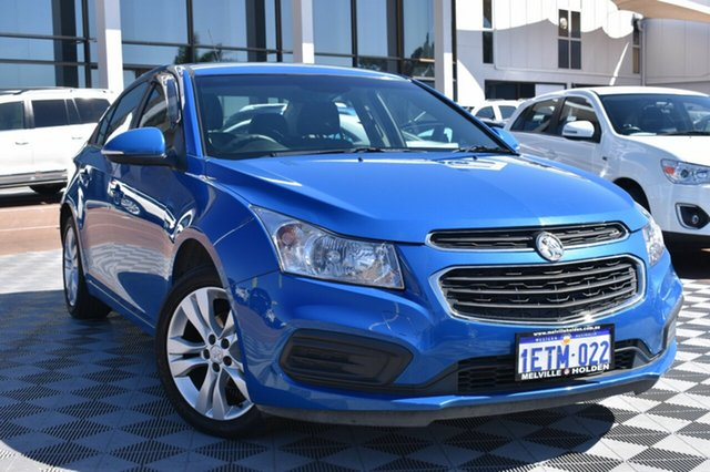 Used Holden Cruze JH Series II MY15 Equipe, 2015 Holden Cruze JH Series II MY15 Equipe Blue 6 Speed Sports Automatic Sedan