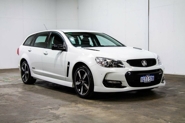 Used Holden Commodore VF II MY16 SS Sportwagon Black, 2016 Holden Commodore VF II MY16 SS Sportwagon Black White 6 Speed Sports Automatic Wagon