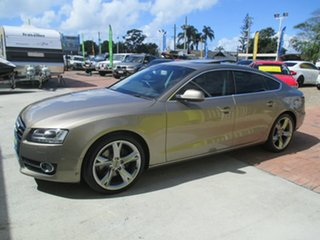 2010 Audi A5 8T MY11 Sportback S Tronic Quattro Gold 7 Speed Sports Automatic Dual Clutch Hatchback.