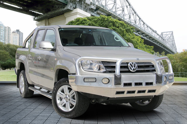 Used Volkswagen Amarok 2H MY15 TDI420 4Motion Perm Highline, 2015 Volkswagen Amarok 2H MY15 TDI420 4Motion Perm Highline Gold 8 Speed Automatic Utility