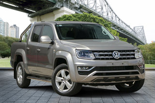 2017 Volkswagen Amarok 2H MY17.5 TDI550 4MOTION Perm Highline Beige 8 Speed Automatic Utility.
