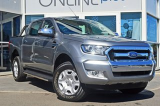 2015 Ford Ranger PX XLT Double Cab Silver 6 Speed Sports Automatic Utility.