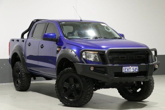 Used Ford Ranger PX XLS 3.2 (4x4), 2013 Ford Ranger PX XLS 3.2 (4x4) Blue 6 Speed Manual Dual Cab Utility