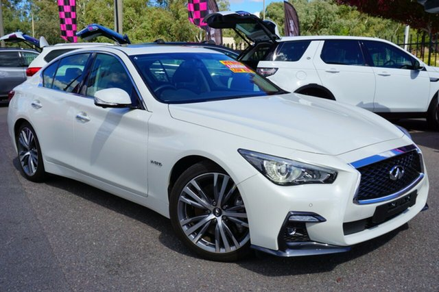 Used Infiniti Q50 V37 Blue Sport, 2018 Infiniti Q50 V37 Blue Sport White 7 Speed Sports Automatic Sedan