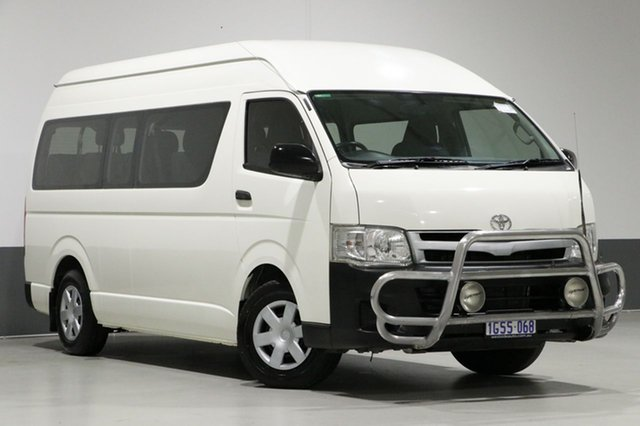 Used Toyota HiAce KDH223R MY11 Upgrade Commuter, 2012 Toyota HiAce KDH223R MY11 Upgrade Commuter White 5 Speed Manual Bus