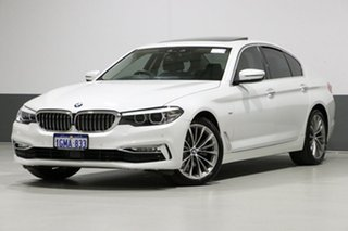 2018 BMW 520d G30 MY18 Luxury Line White 8 Speed Automatic Sedan.