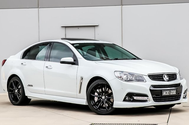 Used Holden Commodore VF MY14 SS V Redline, 2014 Holden Commodore VF MY14 SS V Redline Heron White 6 Speed Manual Sedan