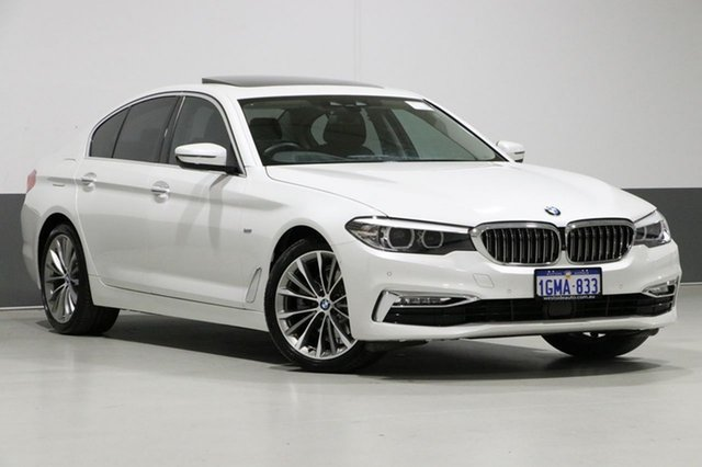 Used BMW 520d G30 MY18 Luxury Line, 2018 BMW 520d G30 MY18 Luxury Line White 8 Speed Automatic Sedan