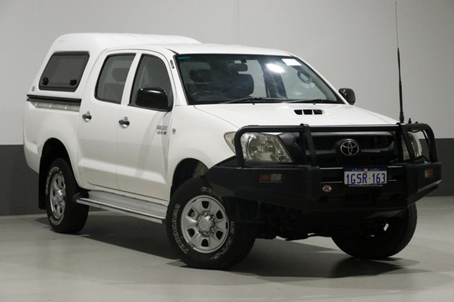 Used Toyota Hilux KUN26R MY11 Upgrade SR (4x4), 2011 Toyota Hilux KUN26R MY11 Upgrade SR (4x4) White 4 Speed Automatic Dual Cab Pick-up