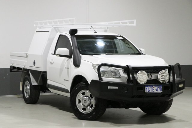 Used Holden Colorado RG MY14 LX (4x4), 2014 Holden Colorado RG MY14 LX (4x4) White 6 Speed Manual Cab Chassis