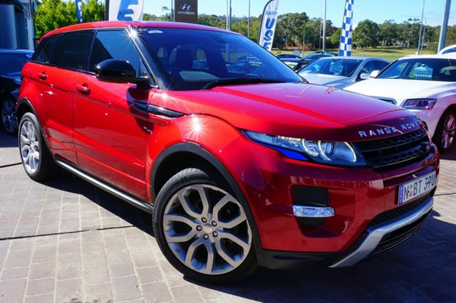 Used Land Rover Range Rover Evoque L538 MY14 SD4 Dynamic, 2014 Land Rover Range Rover Evoque L538 MY14 SD4 Dynamic Red 9 Speed Sports Automatic Wagon
