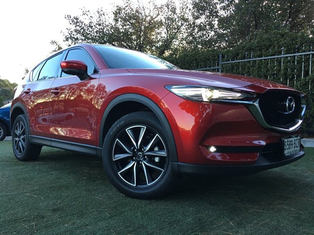 Used Mazda CX-5 KF4WLA GT SKYACTIV-Drive i-ACTIV AWD, 2018 Mazda CX-5 KF4WLA GT SKYACTIV-Drive i-ACTIV AWD Red 6 Speed Sports Automatic Wagon