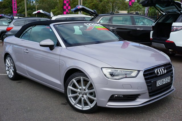 Used Audi A3 8V MY15 Ambition S Tronic, 2014 Audi A3 8V MY15 Ambition S Tronic Silver 7 Speed Sports Automatic Dual Clutch Cabriolet