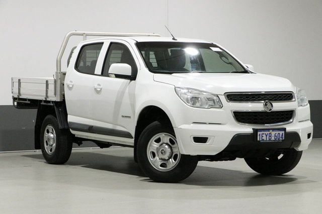 Used Holden Colorado RG MY16 LS (4x2), 2015 Holden Colorado RG MY16 LS (4x2) White 6 Speed Manual Crew Cab Chassis