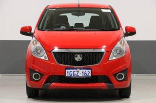 2010 Holden Barina Spark MJ CD Red 5 Speed Manual Hatchback.