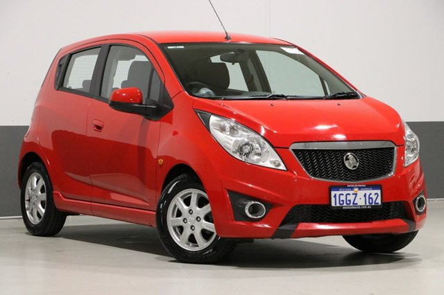 Used Holden Barina Spark MJ CD, 2010 Holden Barina Spark MJ CD Red 5 Speed Manual Hatchback
