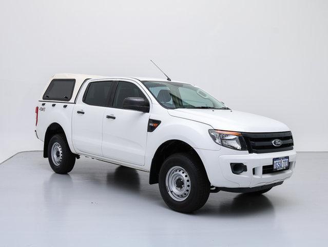 Used Ford Ranger PX XL 3.2 (4x4), 2012 Ford Ranger PX XL 3.2 (4x4) White 6 Speed Manual Dual Cab Utility
