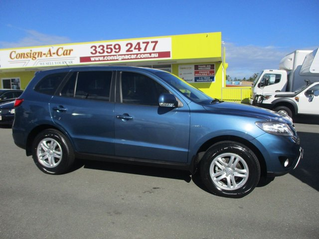 Used Hyundai Santa Fe CM MY12 SLX, 2011 Hyundai Santa Fe CM MY12 SLX Blue 6 Speed Sports Automatic Wagon