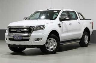 2017 Ford Ranger PX MkII MY17 Update XLT 3.2 (4x4) White 6 Speed Manual Dual Cab Utility.