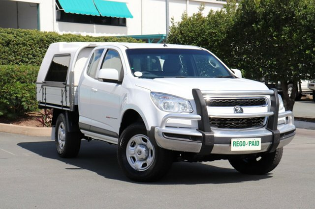 Used Holden Colorado RG MY16 LS Space Cab, 2016 Holden Colorado RG MY16 LS Space Cab Summit White 6 Speed Sports Automatic Cab Chassis