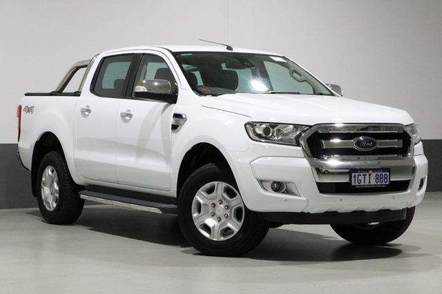 Used Ford Ranger PX MkII MY17 Update XLT 3.2 (4x4), 2017 Ford Ranger PX MkII MY17 Update XLT 3.2 (4x4) White 6 Speed Manual Dual Cab Utility