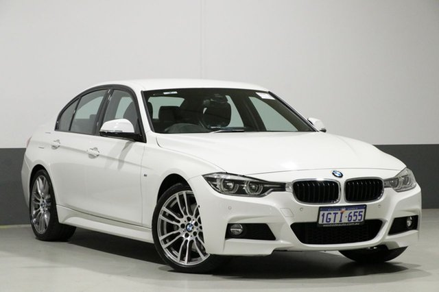 Used BMW 330i F30 LCI MY18 M Sport, 2018 BMW 330i F30 LCI MY18 M Sport White 8 Speed Automatic Sedan