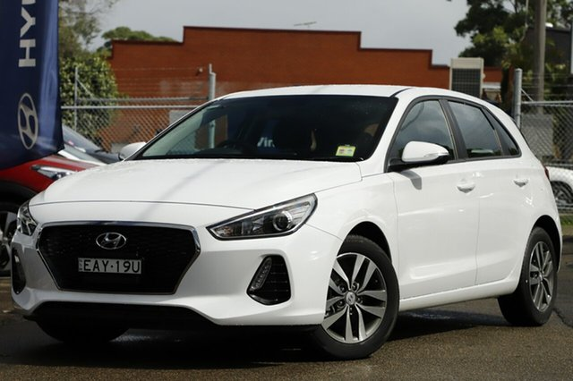 Demo Hyundai i30 PD2 MY19 Active D-CT, 2019 Hyundai i30 PD2 MY19 Active D-CT Chalk White 7 Speed Sports Automatic Dual Clutch Hatchback