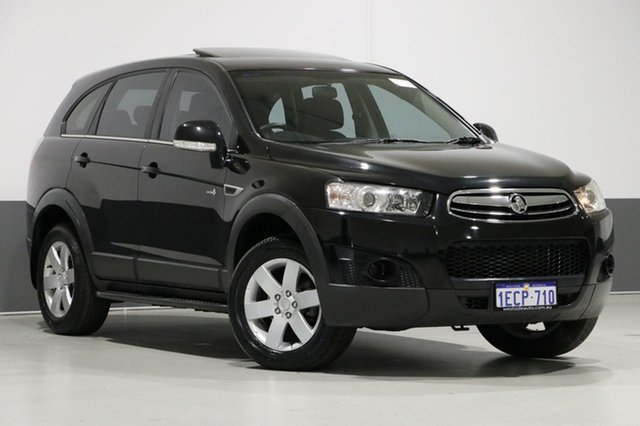Used Holden Captiva CG Series II 7 SX (FWD), 2012 Holden Captiva CG Series II 7 SX (FWD) Black 6 Speed Automatic Wagon