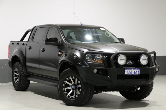 Used Ford Ranger PX MkII XL 3.2 (4x4), 2016 Ford Ranger PX MkII XL 3.2 (4x4) Black 6 Speed Automatic Crew Cab Utility