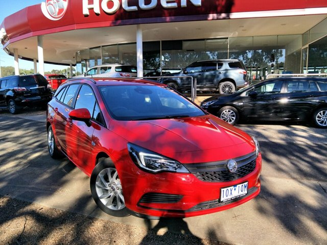 Demo Holden Astra BK MY18 LS Plus (5Yr), 2019 Holden Astra BK MY18 LS Plus (5Yr) Absolute Red 6 Speed Automatic Sportswagon