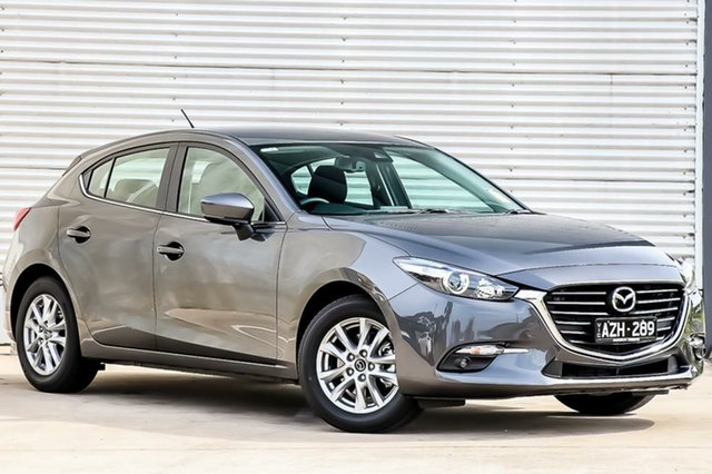 Demo Mazda 3 BN5478 Maxx SKYACTIV-Drive Sport, 2018 Mazda 3 BN5478 Maxx SKYACTIV-Drive Sport Machine Grey 6 Speed Sports Automatic Hatchback