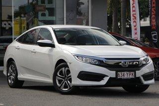 2018 Honda Civic 10th Gen MY18 VTi White Orchid 1 Speed Constant Variable Sedan.
