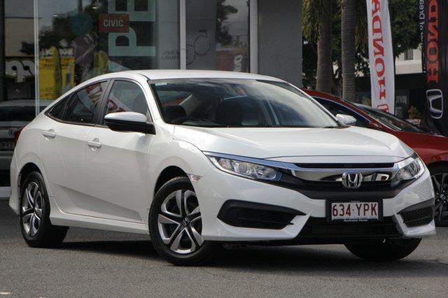 Demo Honda Civic 10th Gen MY18 VTi, 2018 Honda Civic 10th Gen MY18 VTi White Orchid 1 Speed Constant Variable Sedan